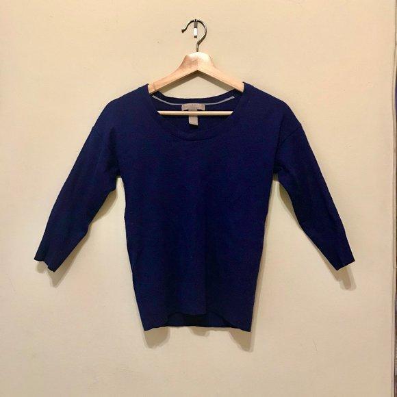 Banana Republic blue merino wool sweater